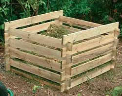 Wood Slat Bin